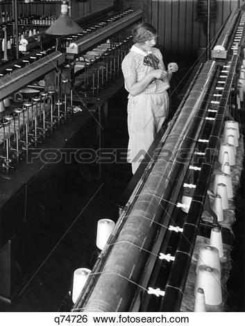 Stock Images of 1920S 1930S Woman Worker Threading Bobbin.