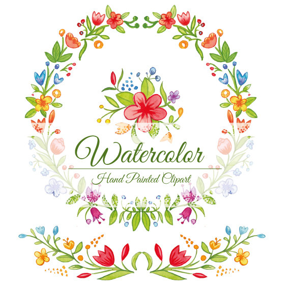 Silk Floral Swag Clipart.