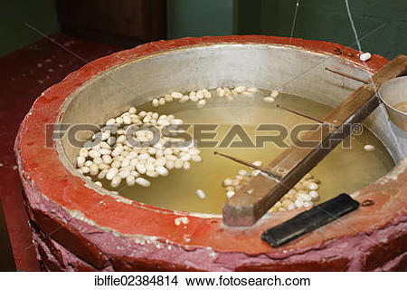 "Stock Photo of ""Silk cocoons, silk mill, carpet factory, Antalya."