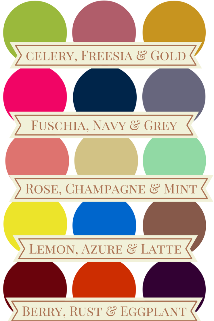 5 things to consider when choosing your wedding colors.