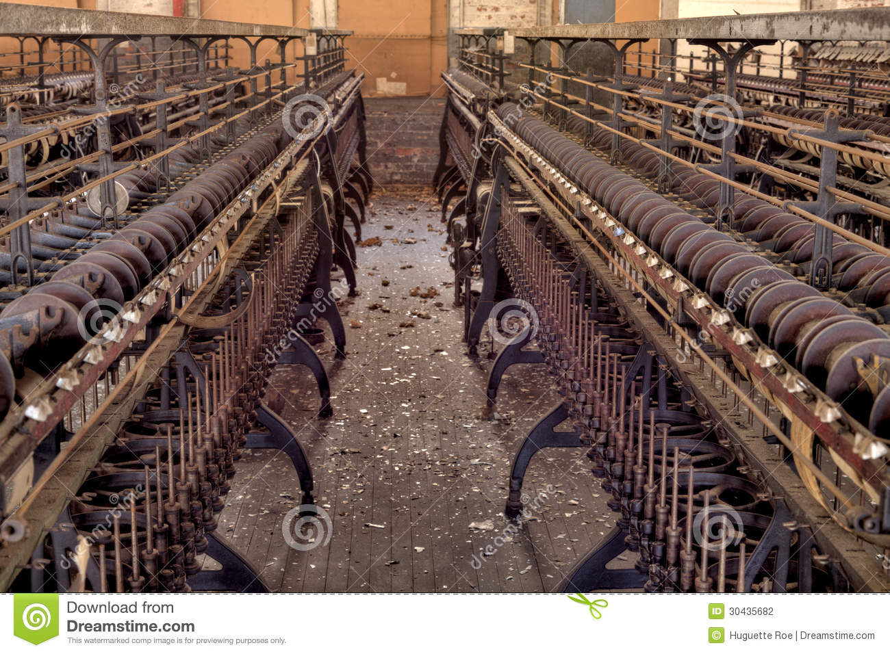 Silk Mill Factory Stock Photography.