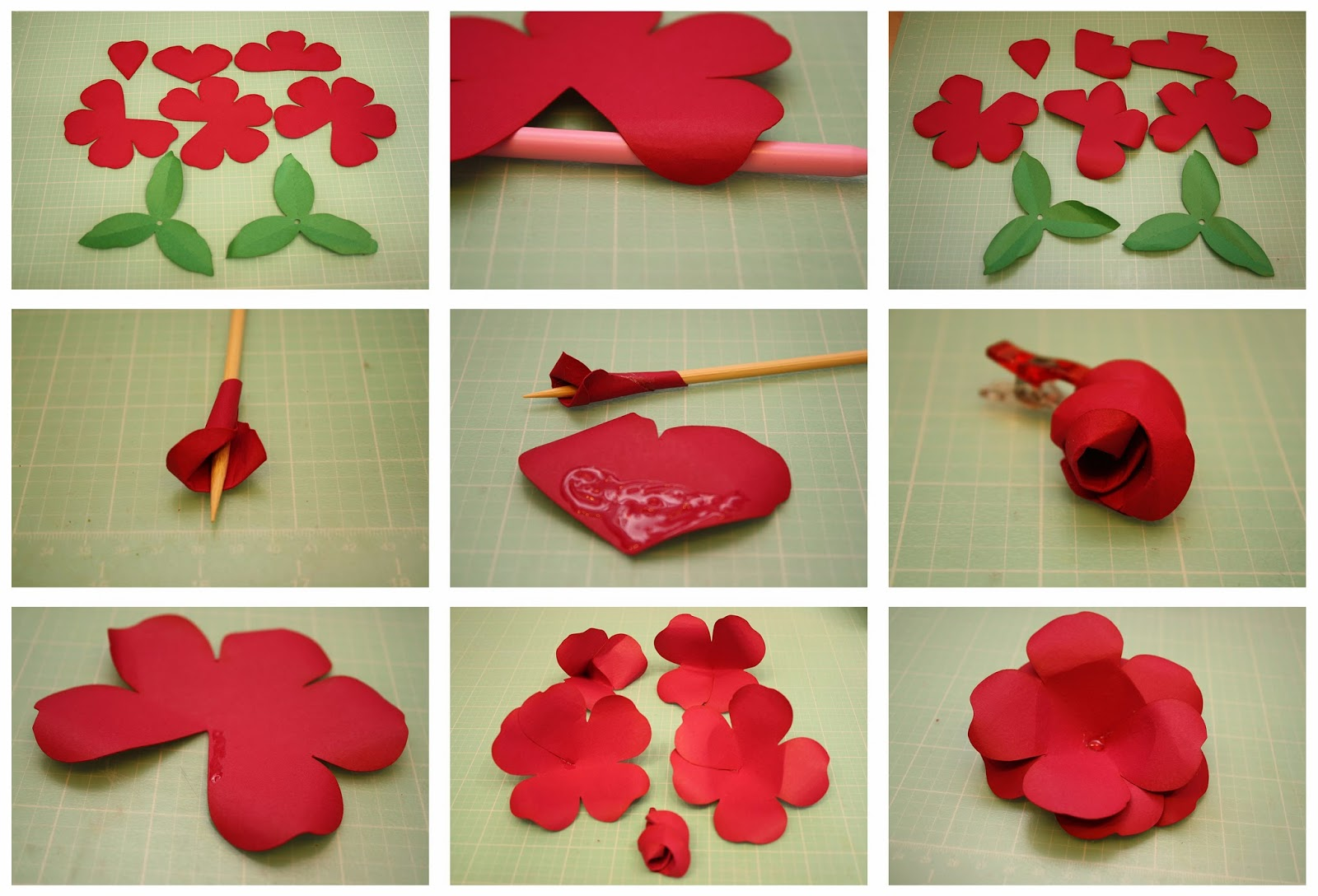 Bits of Paper: Rolled Rose and Easy To Assemble Rose 3D Paper Flowers!.