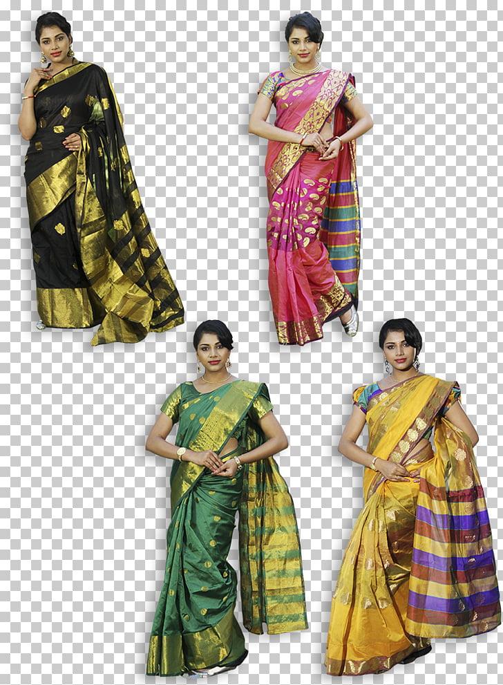 Sari Georgette Silk Cotton Lace, Silk Saree PNG clipart.