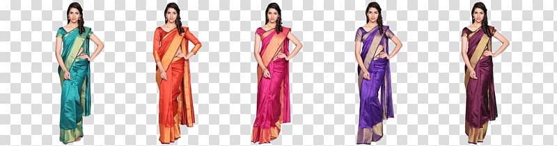 Sari Silk Cotton Female Navel, Silk Saree transparent.