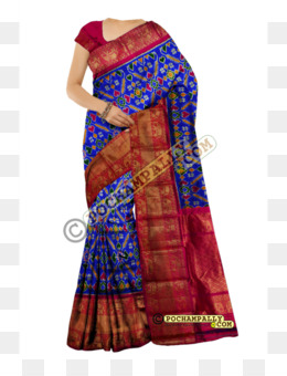 Kanchipuram Silk Saree PNG and Kanchipuram Silk Saree.