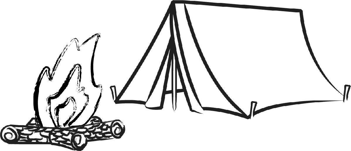 Caravan And Tent Clipart.