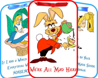 Alice in Wonderland Mad Hatter table tent cards by cardsbycorinne.