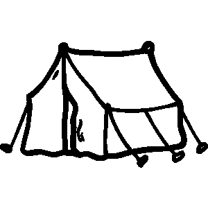 Tent And Campfire Clipart.