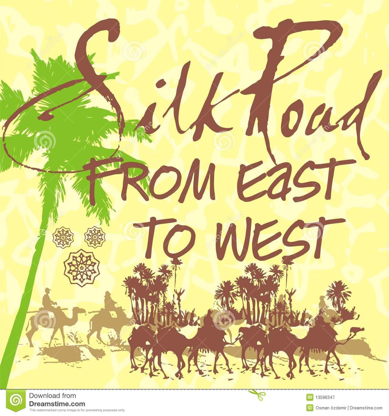 Silk road caravan clipart.