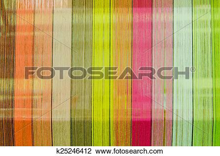Stock Photo of silk thread in country of asia,Silk Production.