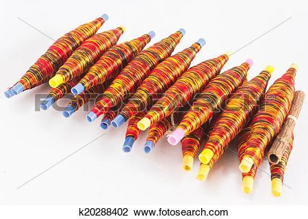 Stock Photo of Thai silk thread k20288402.
