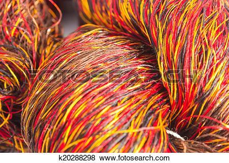Pictures of Thai silk thread k20288298.