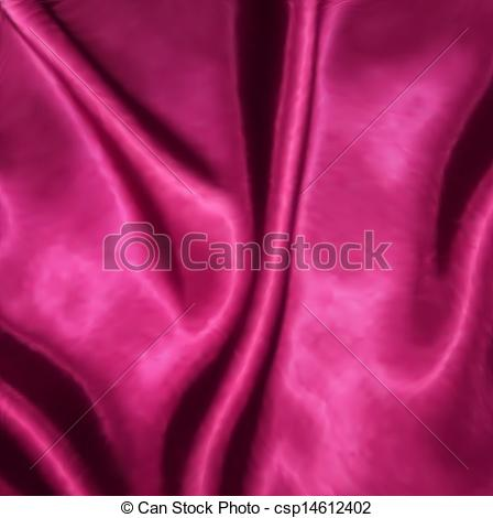Clip Art Vector of Smooth elegant pink silk with heart. Vector.