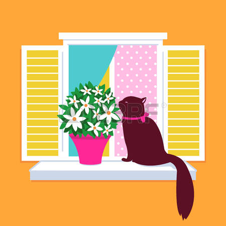 855 Window Sill Stock Illustrations, Cliparts And Royalty Free.