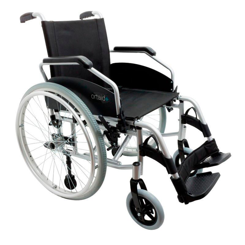 Silla de ruedas con ruedas extraibles.