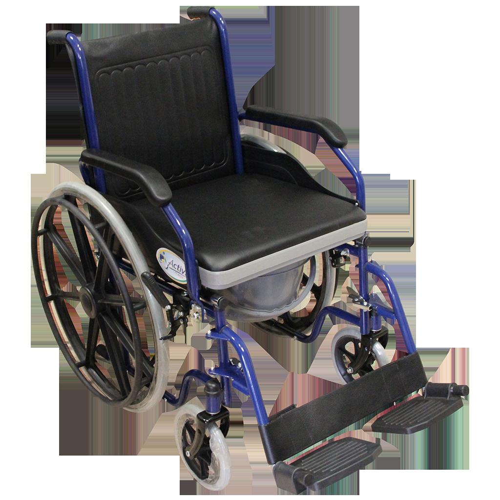 Silla de ruedas con cómodo integrado..
