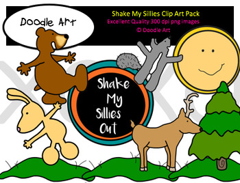 Shake My Sillies Clipart Pack by Clipart 4 Teachers.