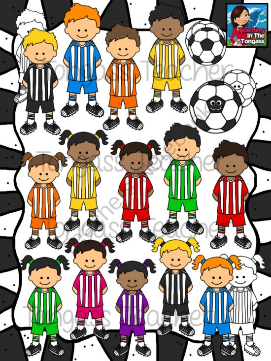 Soccer Sillies Clipart Bundle from tongassteacher on.