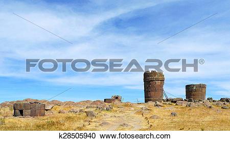 Stock Photography of Sillustani, Puno, Peru k28505940.