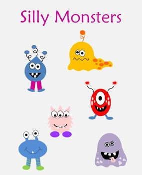 Silly Monsters Clipart.