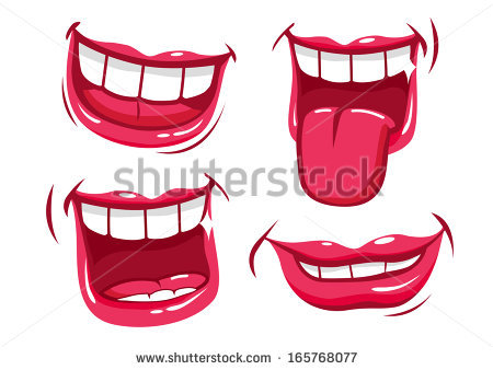 Laughing Mouth Stock Images, Royalty.