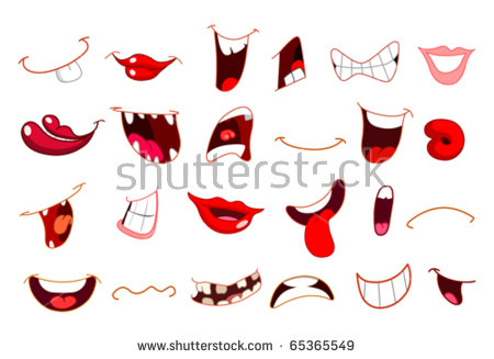 Cartoon Mouth Stock Images, Royalty.