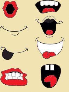 Printable Eyes Nose Mouth Templates.