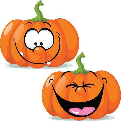 Funny Pumpkin Faces Clipart.