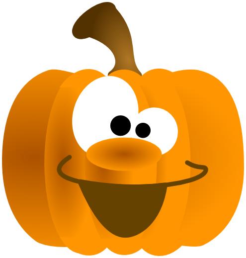 Silly Pumpkin Clipart.