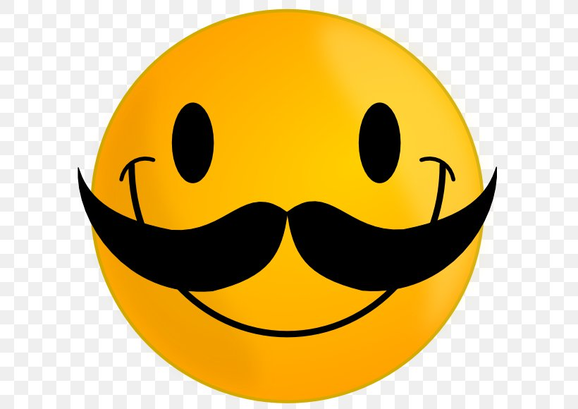 Smiley Moustache Emoticon Face Clip Art, PNG, 600x580px.