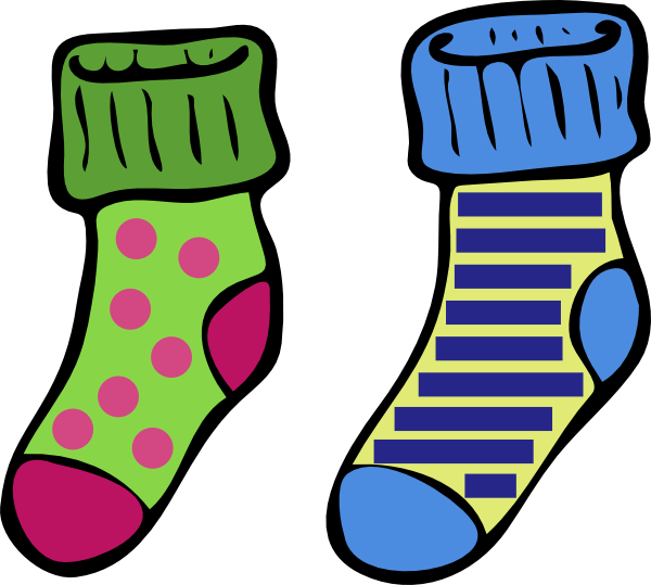 Silly Sock Clipart.