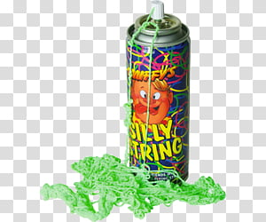 Moregii Fatty, Silly String spray can transparent background.