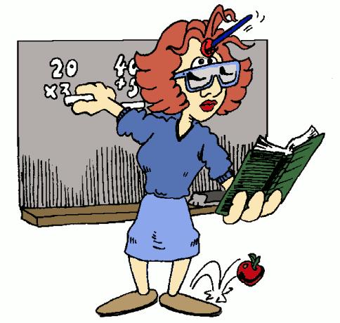 Funny Teacher Clipart.