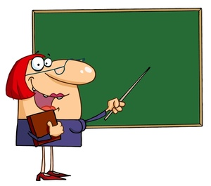 Funny teacher cartoon clipart.