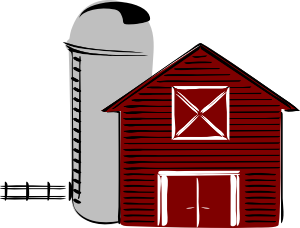 Barn And Silo Clipart.