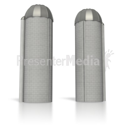 Twin Silos Separated.