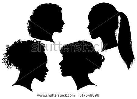 Head Silhouette Stock Images, Royalty.