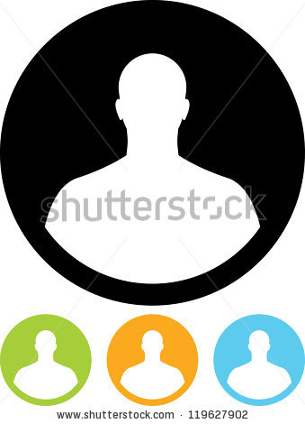 Head And Shoulders Icon Stock Images, Royalty.