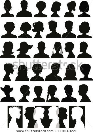 Female Head Silhouette Stock Images, Royalty.