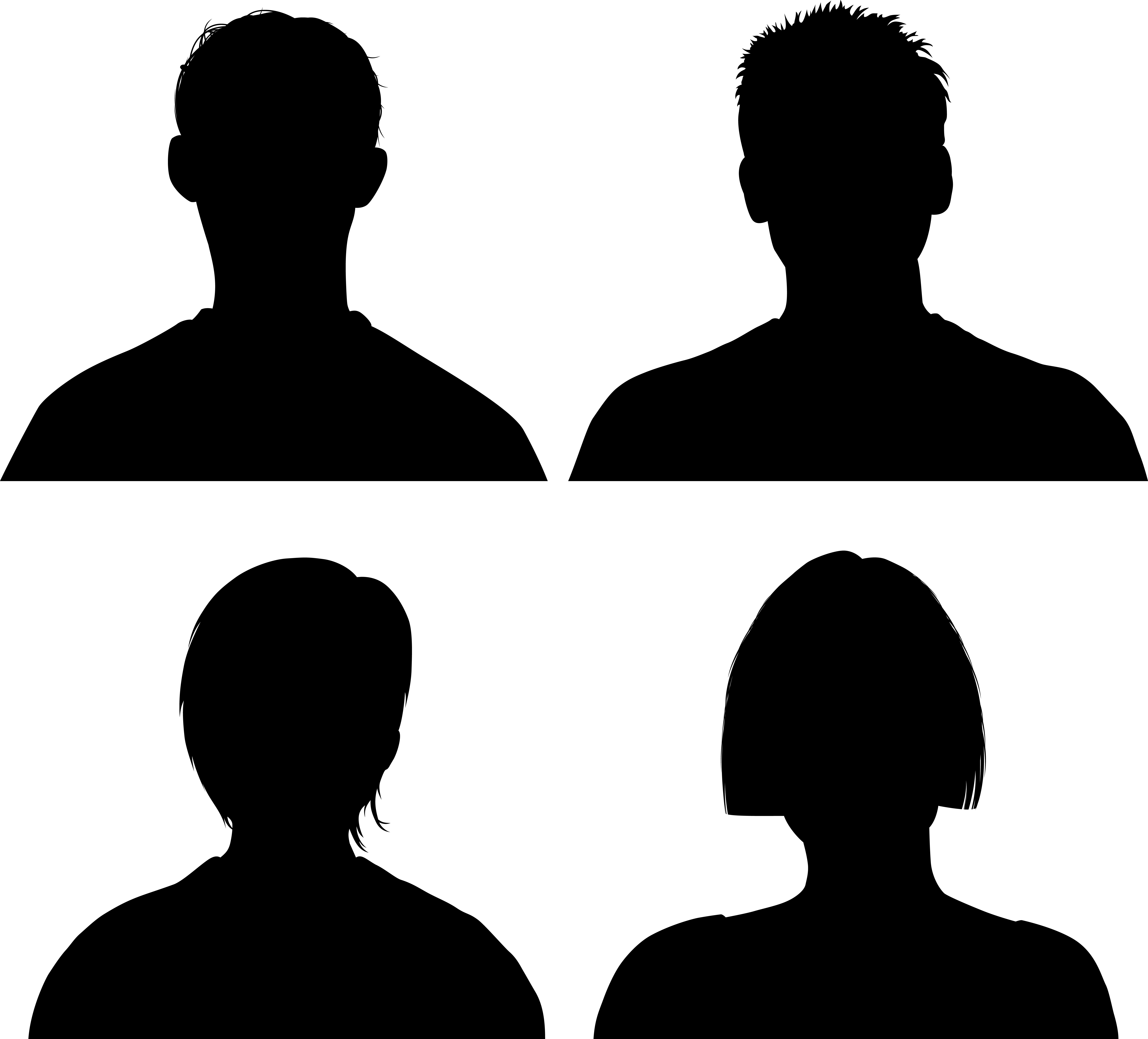 Silhouette Heads.