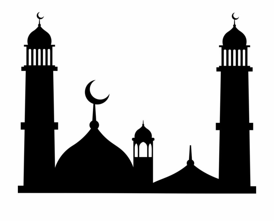 Mosque clipart silhouette, Mosque silhouette Transparent.