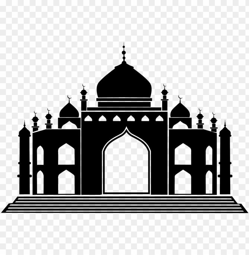 download vector siluet masjid cdr & png hd.