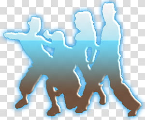 Silueta de Personas Bailando transparent background PNG.