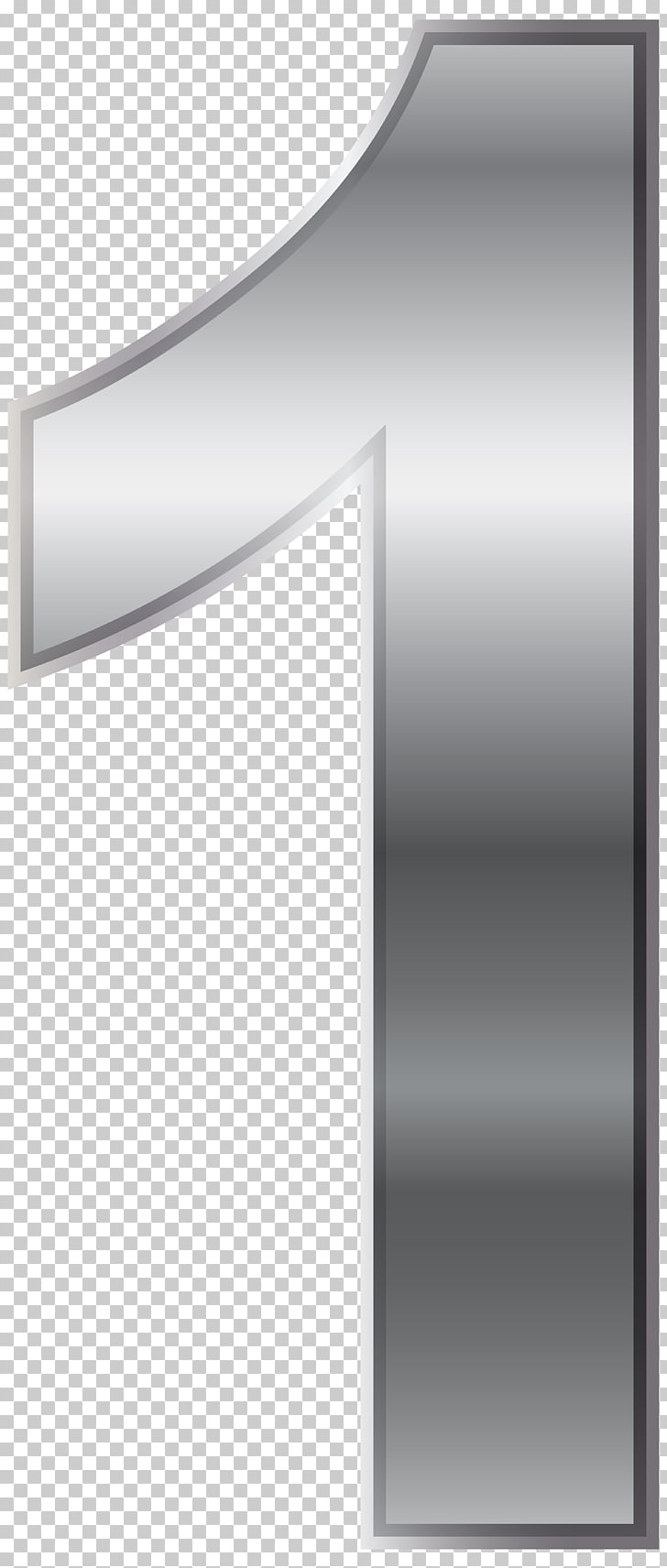 Black and white Design Angle Pattern, Silver Number One.