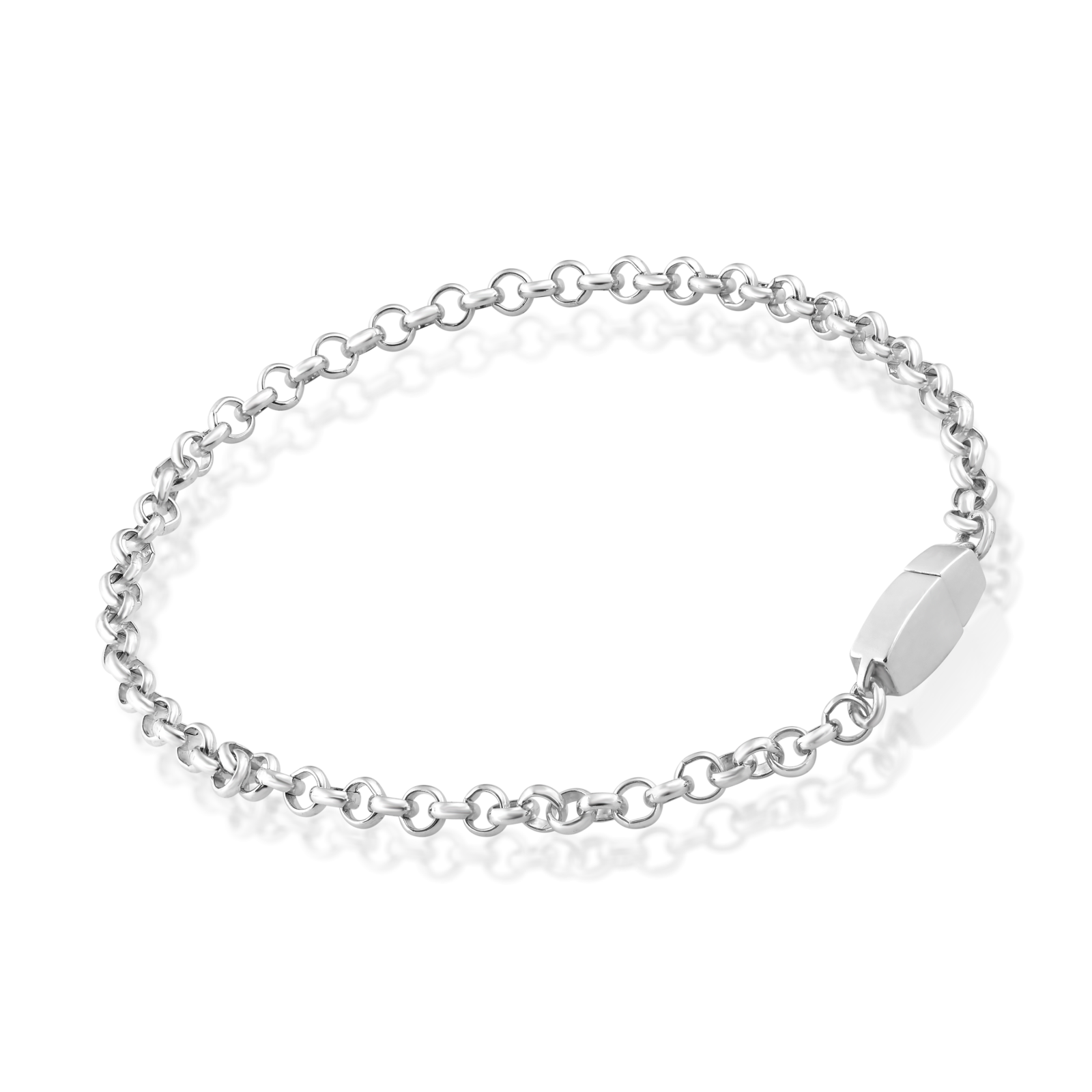 Sterling Silver Chain Anklet.