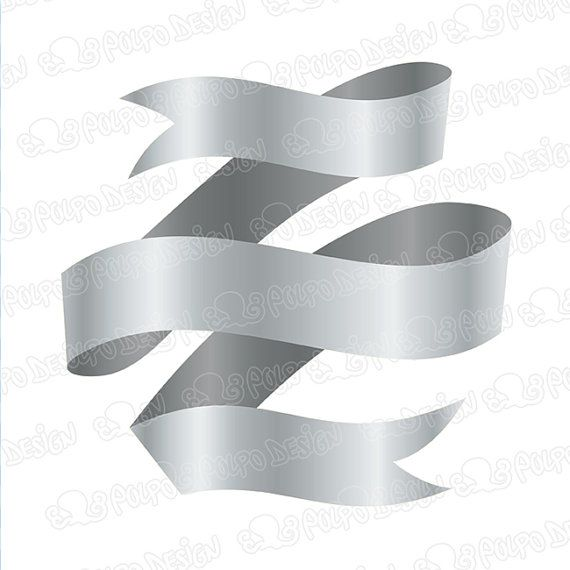 Digital silver banners clip art.