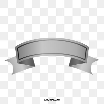 Silver Banners PNG Images.