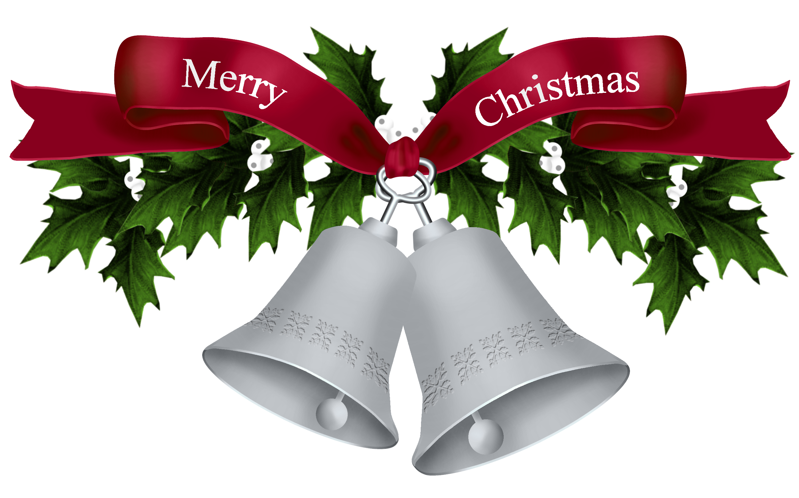 Christmas Silver Bells PNG Picture.