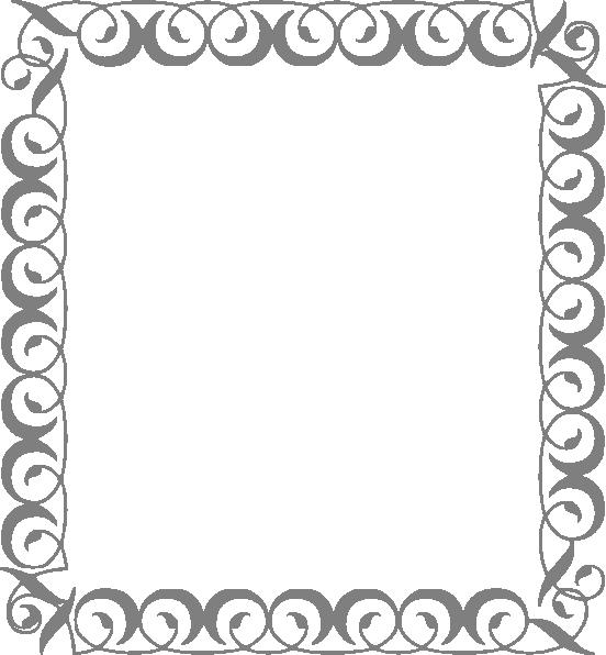 Silver Swirl Border Clip Art at Clker.com.
