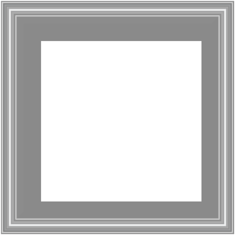 Silver Border Frame Transparent PNG Image.